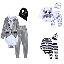 Girls Jumpsuit Halloween Baby Costume-Set Rompers Long-Sleeve Anime Infant Boys 3pcs