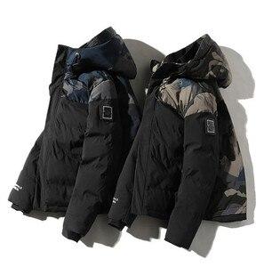 Image 5 - Parka Männer Winter Jacken Baumwolle Chaquetas Hombre Camo Mantel Mens Casual Verdicken Warm Camouflage Mode Streetwear Kleidung