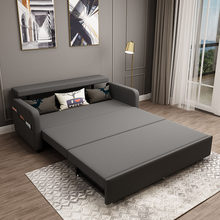 Dobrável sofá cama dupla finalidade quarto pequena família dupla sala de estar multi função de armazenamento único cama retrátil