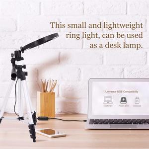 Image 5 - Led ışık halkası Selfie Tripod lamba halka Selfie telefon Youtube aydınlatma fotoğraf kamera fotoğraf klip tutucu ekipmanları