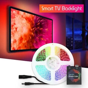 Dynamic TV Backlight LED Strip Kit Smart Ambilight RGB LED Light Strip For TV PC Monitor Backlight 1m/2m/3m/4m/5m