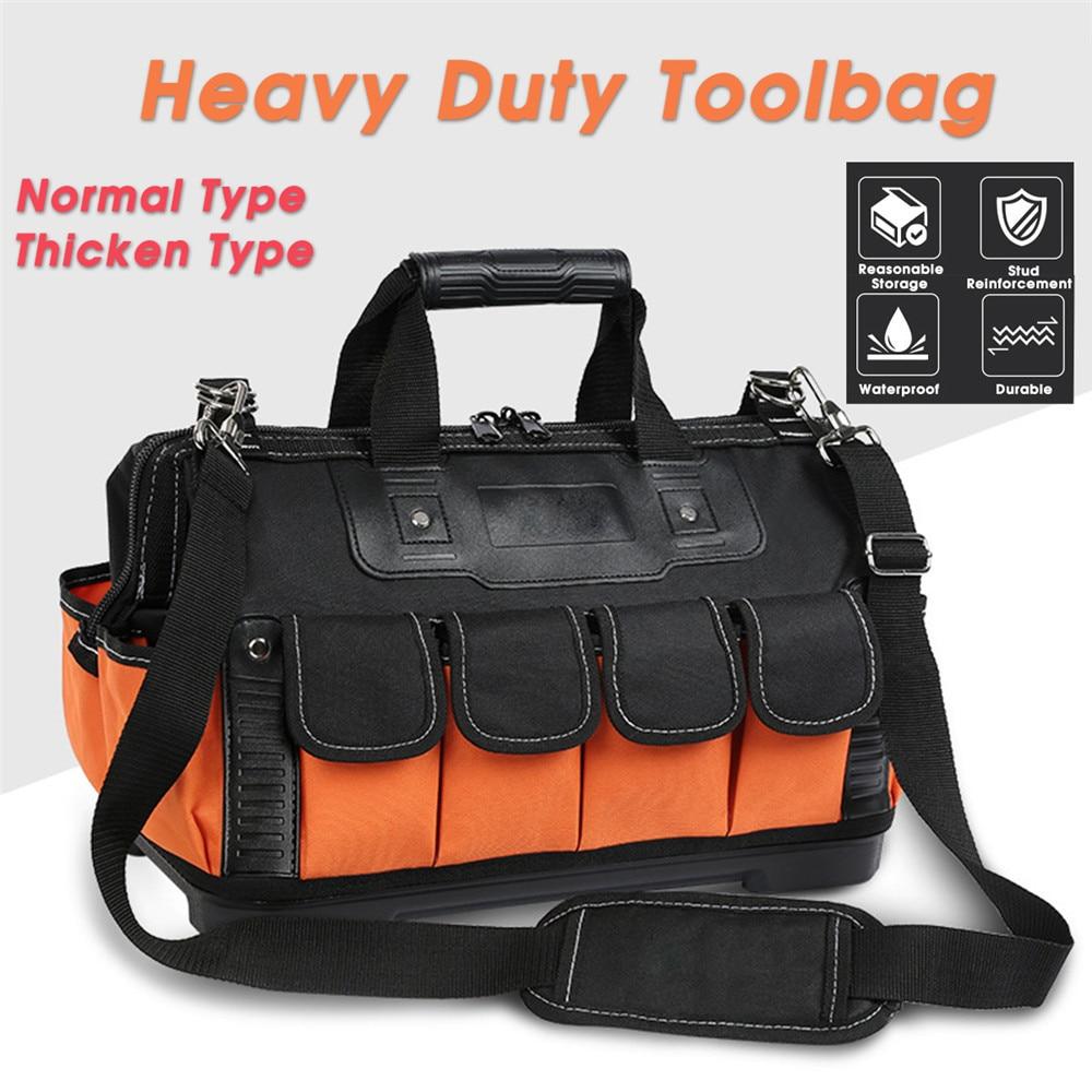 Tool Bag Electrician Toolbag Thicking 1680D Oxford-cloth Waterproof Repair Storage Tool Belt Work Bag 13 15 16 17 18 20inch
