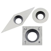 3Pcs Tungsten Carbide Inserts Cutter Set for Wood Turning Working Lathe Tool(China)