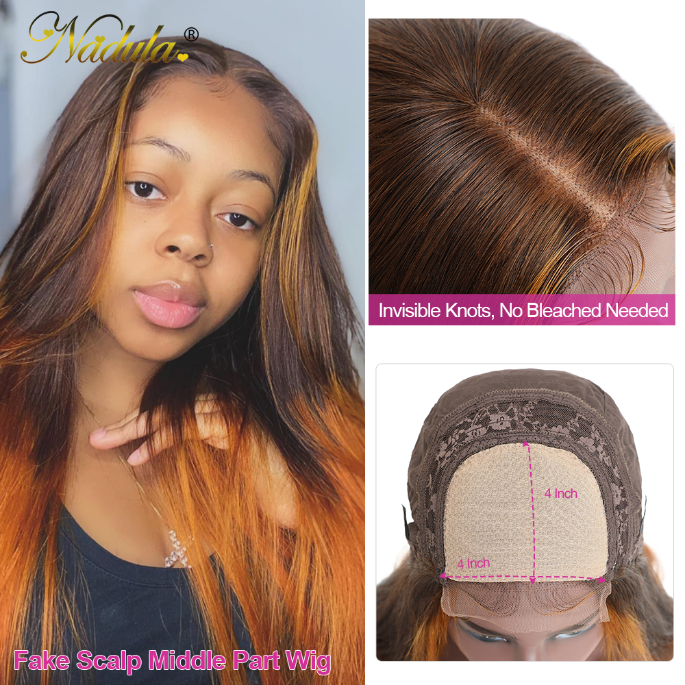 Nadula Hair Lace Front Wig Straight Hair T Part Lace Wig  4X1 T Part Wigs   Lace Wig 150% Prepluck 2