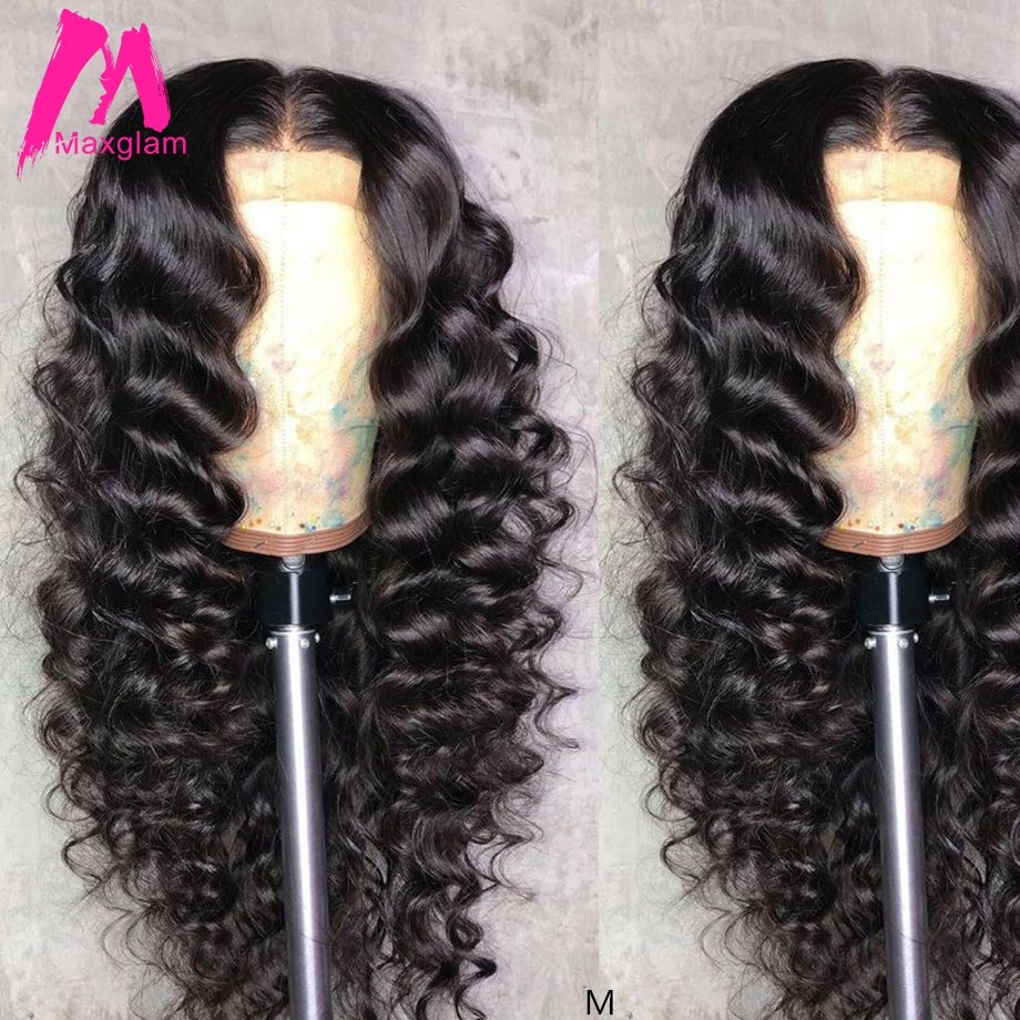 Lace Front Human Hair Wigs Loose Wave Brazilian Natural Color Short Long Wig Pre Plucked Remy Hair For Black Women 130%