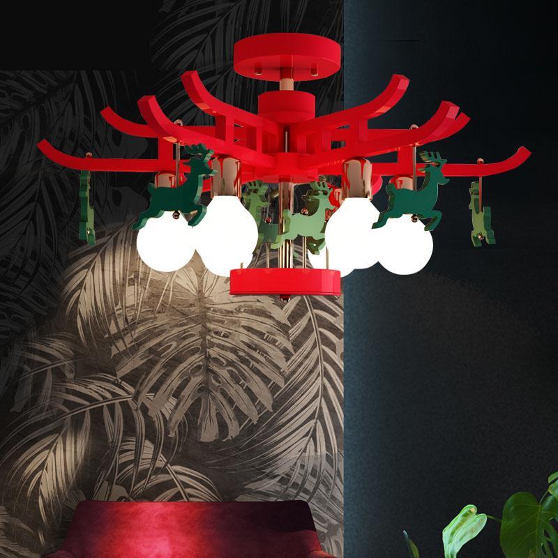 New Animal Trojan e27 lamp Children's Room Ceiling Lights Bedroom Ceiling Led Light Creative Cartoon Kindergarten Lighting|Ceiling Lights| |  - title=