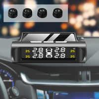 Sistema de supervisión de presión de neumáticos TPMS para coche, carga Solar TMPS, Sensor Digital externo, alarma automática, Sensor inalámbrico de presión de neumáticos presion neumaticos sensor presion de neumaticos