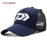 DAIWA New Summer Sun Cap Breathable Wicking Mesh Visor Ventilation Adjustable Sun Hat Daiwa Male 2018 Outdoor fishing brand cap
