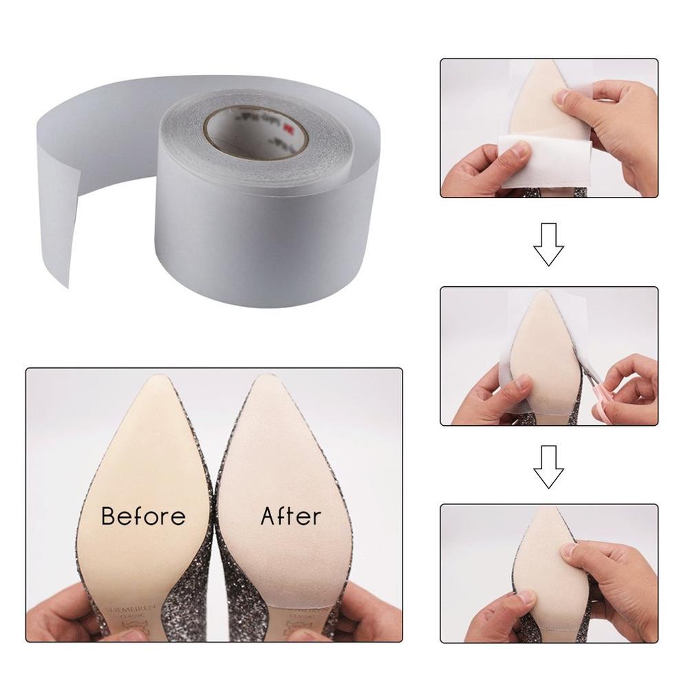 1 pçs único adesivo de cristal claro auto-vara almofadas único protetor sapato bottoms antiderrapante resistente sapato sola capa adesivos