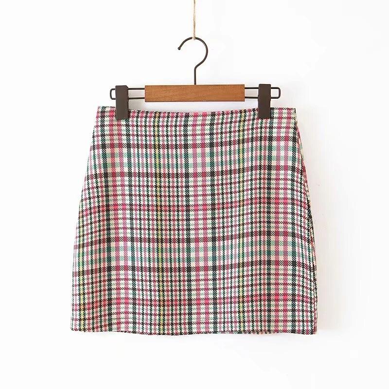 JXYSY Za 2019 Women Chic long Sleeve Blazer Jackets Outerwear Casual Fashion Female Plaid Coats Tops Ladies Jacket Suits
