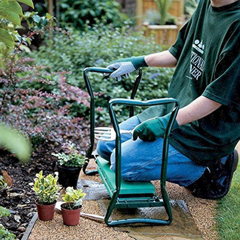 Pas cher pliant jardin Kneeler et si ge multifonctionnel si ge en acier inoxydable tabouret de