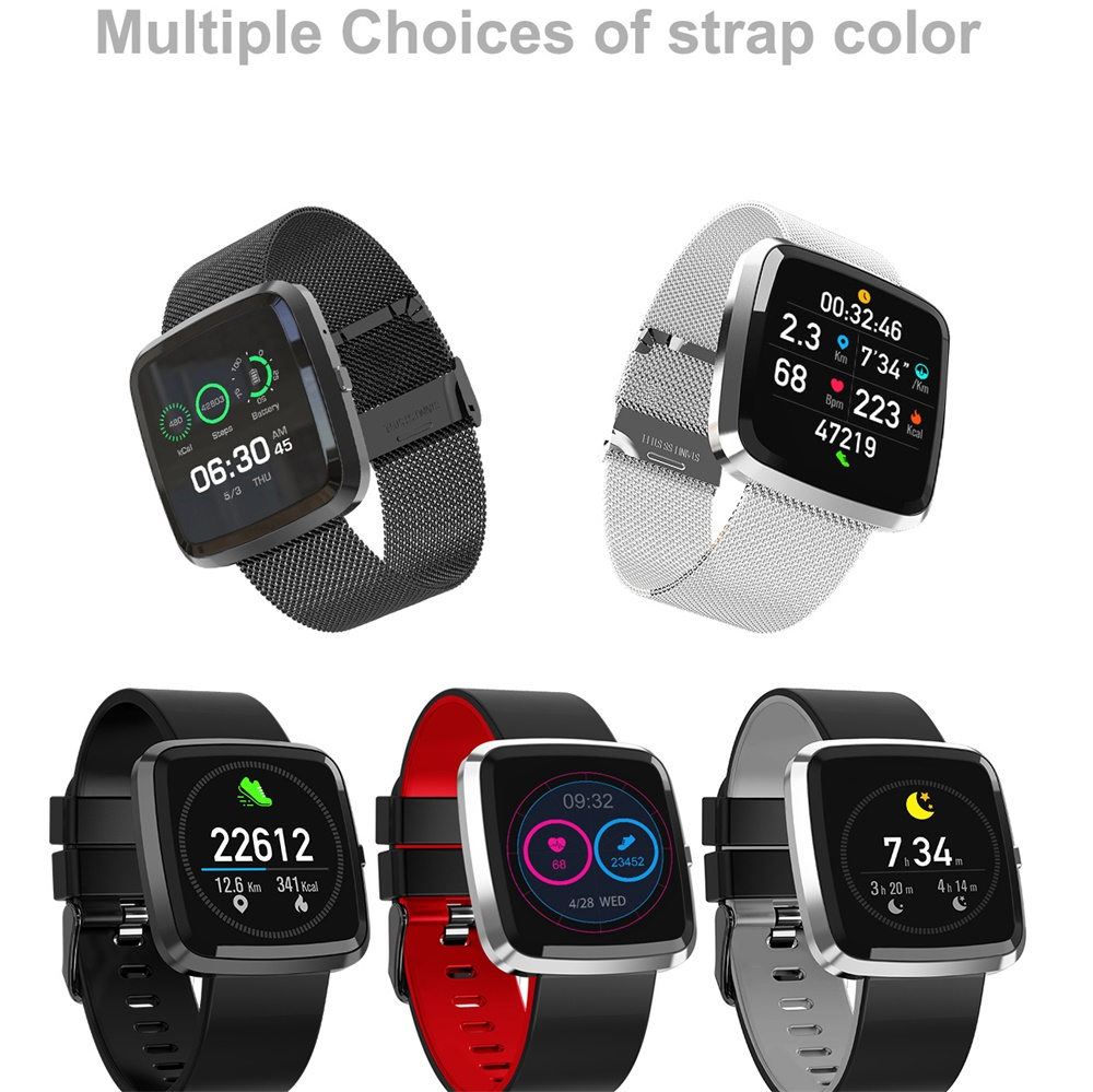 696 696 T2 Color Screen Smart Bracelet Blood Pressure Smart Band Heart Rate Monitor Fitness Activity Tracker
