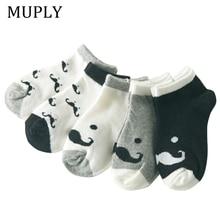5 Paare/los Baumwolle Baby Socken Druck schnurrbart Mädchen Jungen Kinder Socken Frühling Herbst Infant Kleinkind Kinder Socken Für 1-3 jahr