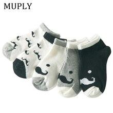 Хлопковые детские носки 5 цветов с принтом усов для девочек