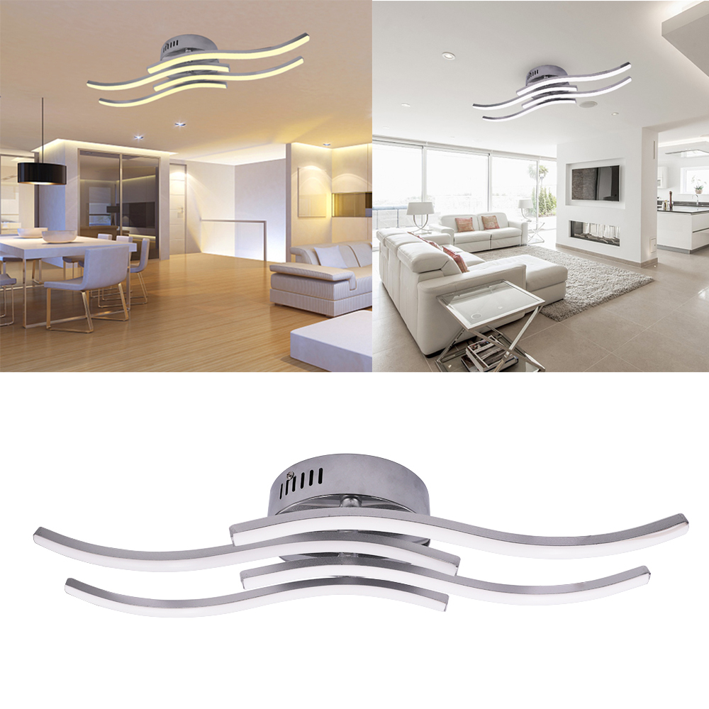 AC 85-265V Modern LED Ceiling Lamp 12W 18W 24W Aluminium Wave Shape Simple Led Ceiling Lights for Bedroom Living Room Decoration