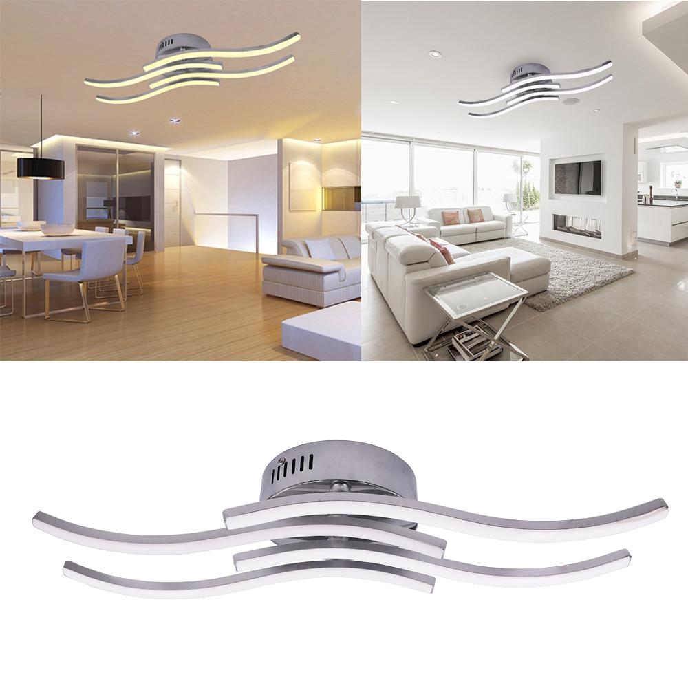 AC 85-265V Modern LED Ceiling Lamp 12W 18W 24W Aluminium Wave Shape Simple Led Ceiling Lights for Bedroom Living Room Decoration