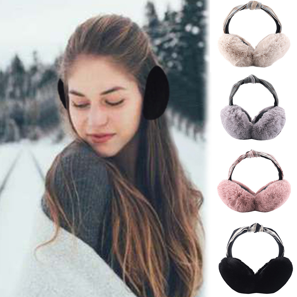 Unisex Winter Cute Ear Fur Headphones Warm Earmuffs Foldable меховые теплые наушники Oorwarmers Ear Warmers Free Shipping #4