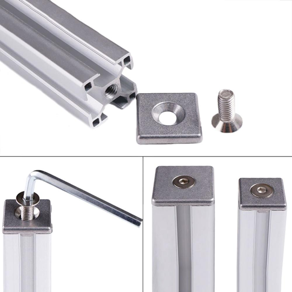 1 шт. алюминиевый профиль Торцевая крышка пластина с одним или двойными отверстиями для 2020 2040 3030 3060 4040 4080 6060 ЕС алюминиевые профили