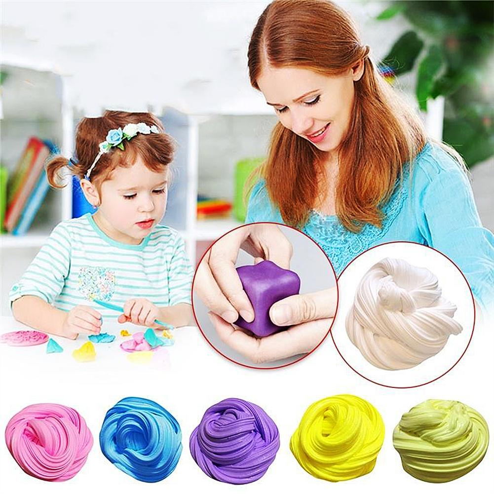 Soft Slime Clay Fluffy Foam Handmade Stress Relief Educational Toy For Children Playdough Antistress Polymer Gift For Children
