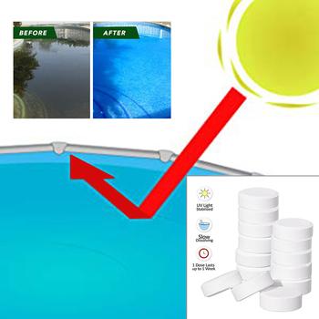 1*20g tabletek do natychmiastowej dezynfekcji w basenie dwutlenek chloru tabletki musujące wlewki chloru dezynfekujące tanie i dobre opinie
