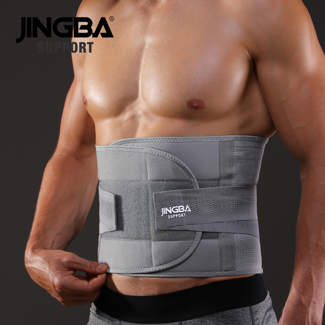 JINGBA SUPPORT fitness sports waist back support belts sweat belt trainer trimmer musculation abdominale Sports Safety factory