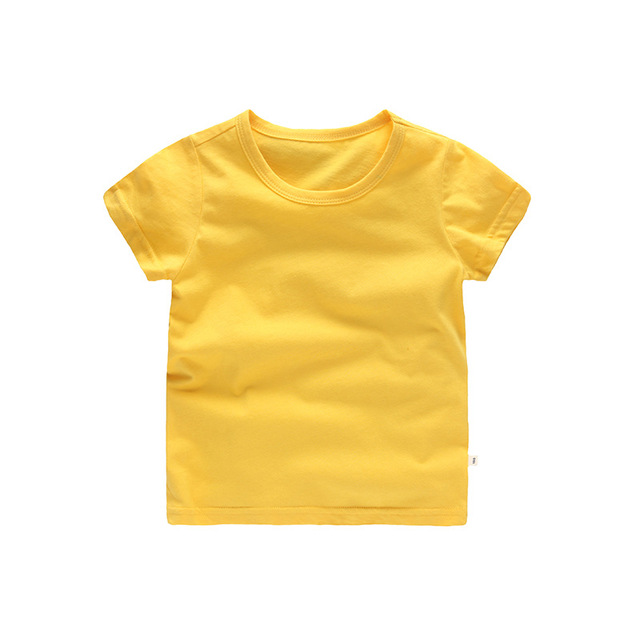 VIDMID Kids Tops Baby Boys Cotton Short Sleeve t-shirt Tees girls Children Casual candy color clothes  boys girls tees 4018  01 2