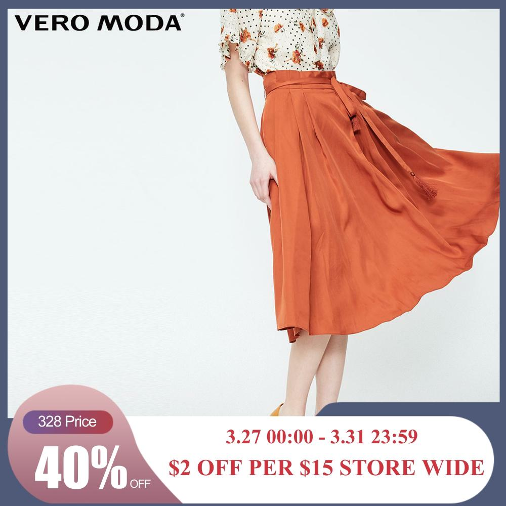 Vero Moda Women's Pleated Lace-up Skirt | 319116516