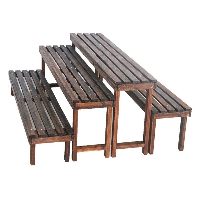 Originality Close Sliver Bench Multi-storey Balcony Ladder Anticorrosive Woodiness Flowerpot Frame
