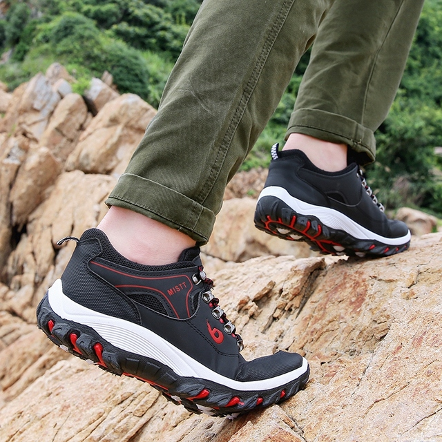 Men Hiking Shoes Trekking Sneakers Man Fishing Camping Shoes Hunting Boots 5