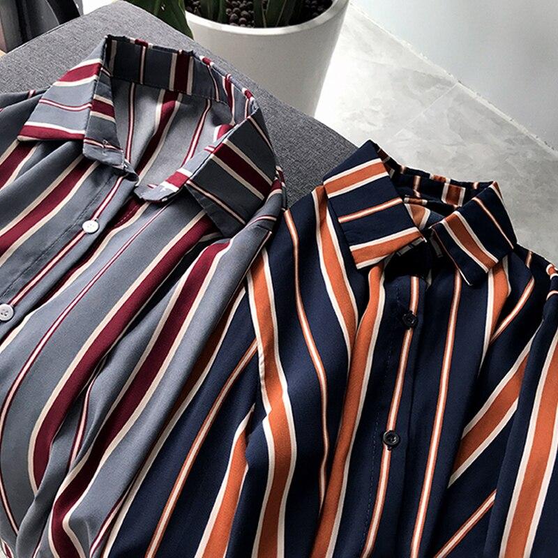 NEW  fashion striped blouse shirt 3XL plus size women tops long sleeve women shirts women blouse womens tops and blouses 1677 50 6