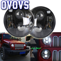 2X 80W 712V Head Lamp Hi/Low Beam White light with DRL 7inch Round LED Car Headlight For Jeep Automobiles Motorcycles