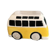 1PC Cartoon Bus Money Toys Adorable Ceramic Car Shape Money Bank Piggy Bank Baby Room Decoration Christmas Gift(China)