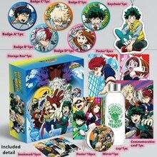 Anime mon héros académique jouet boîte cadeau Katsuki Izuku affiche porte clés carte postale eau tasse signet réfrigérateur autocollant boîte de rangement