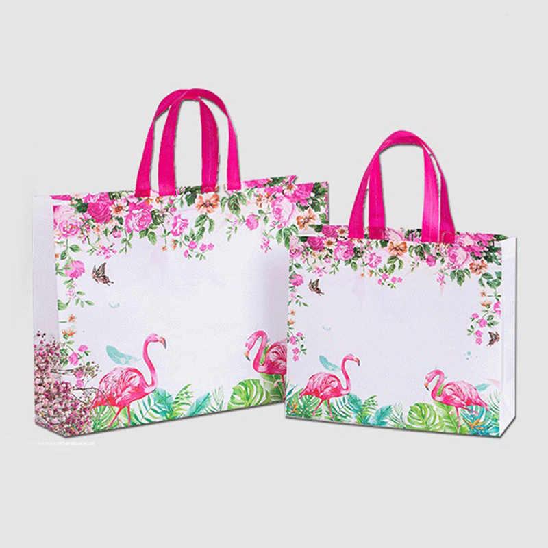 Nieuwe Idyllische Bloem Herbruikbare Boodschappentas Opvouwbaar Eco Draagtas Non-woven Canvas Shopper Tassen Vrouwen Reizen Boodschappen tas