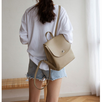 YIFANGZHE Genuin leather mini backpack, High quanlity fashion back girls fashion  Roomy enough for  iPad mini, wallet, phone