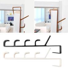 Practical Plastic Multifunctional Door Hook Bear About 5kg Towel Hat Clothes Wall Over Hanger Durable 5 hook