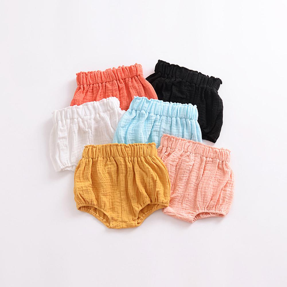 DishyKooker Newborn Baby Bloomers Shorts PP Pants Cotton Linen Triangle Summer Trouser For Toddler