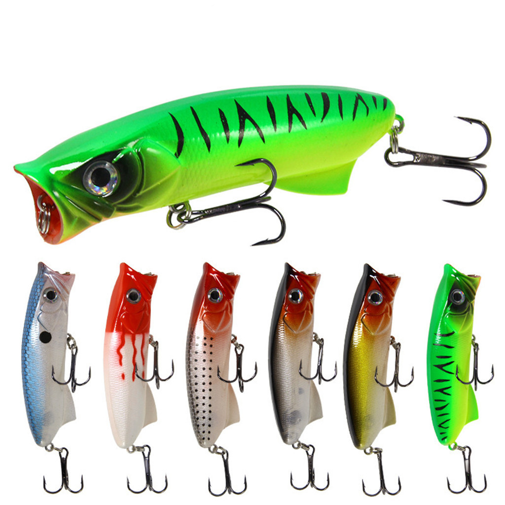 Fishing Lures Water surface 8cm/11.3g feather hook fake soft plastic artificial Floating type fishing accessories Bionic bait f3