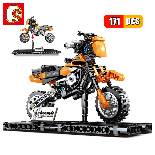 SEMBO 171pcs Technic Motorbike Harleyed Building Block Fit By Technic Motorcycle Car Vehicles Autobike Set for Children Boy Toys