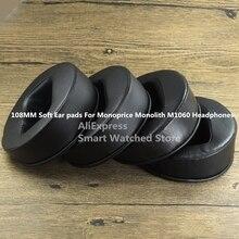 108 มม.Sheepskin แผ่นหูสำหรับ Monoprice Monolith M1060 หูฟัง BEVEL โฟมคุณภาพสูงผิวโปรตีน