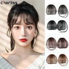 Синтетическая воздушная челка Chorliss, искусственные волосы, удлинители волос с зажимом, смешивающие волосы, челка с зажимом, шиньон