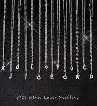 Zircon completo a initial z cartas iniciais pingentes colares para mulher 925 colares