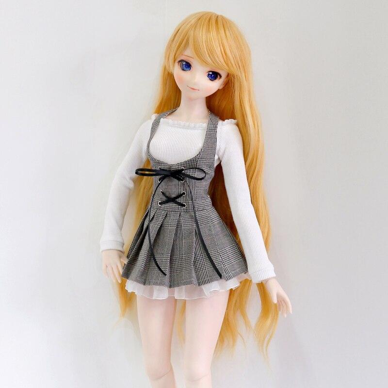 BJD Doll Clothes White shirt grey plaid skirt Elegant suit 1/3 1/4 DDM/DDL/MSD Custom Doll Accessories
