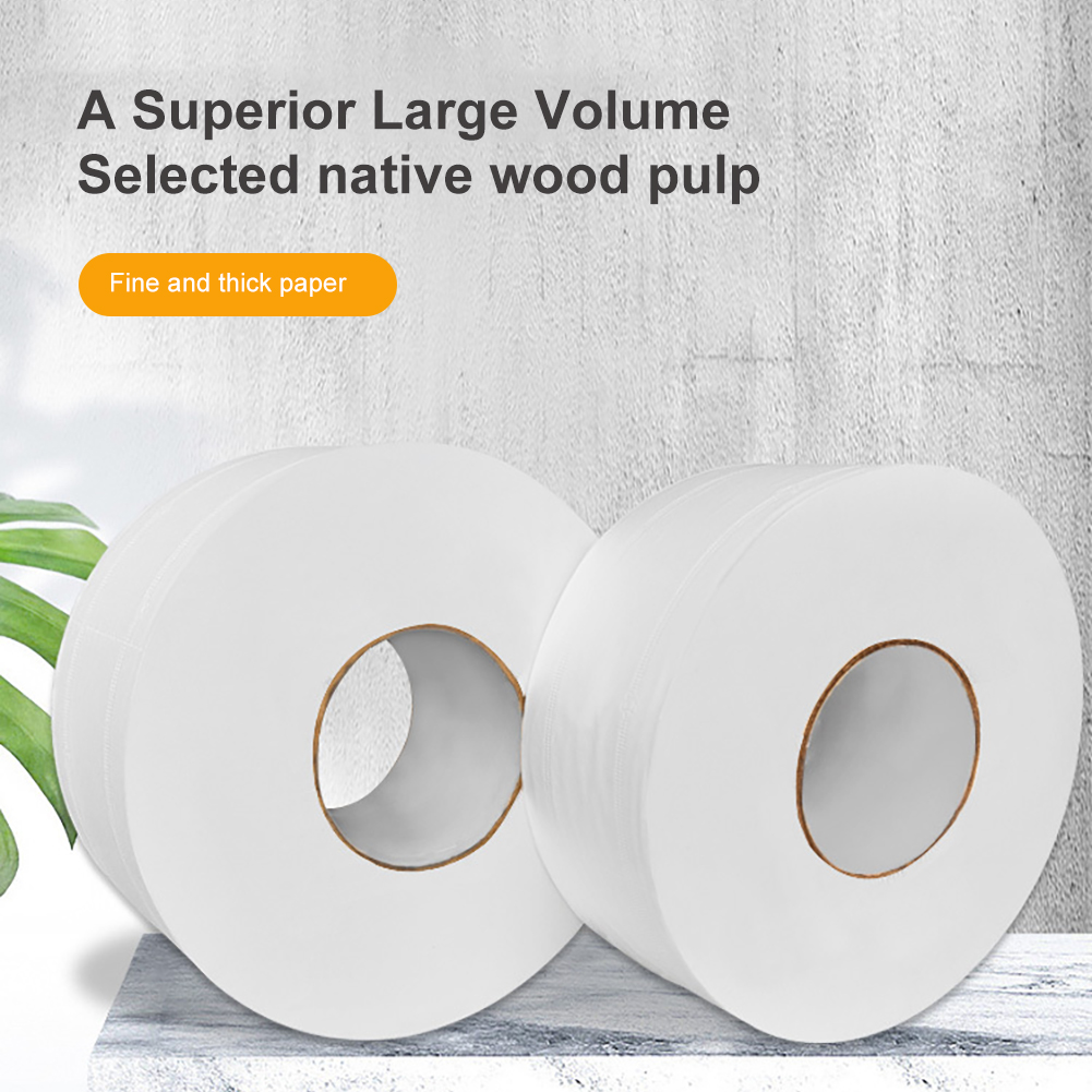 Soft Toilet Paper  4 Layers Tissue Rolling Paper Household Toilet Paper Kitchen Roll  Bathroom Product 2 Pc White