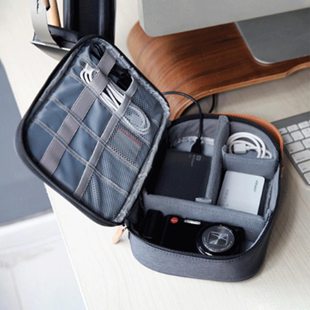 Portable Travel Cable Bag Cable Storage Bag Digital Hard Disk Protection Cover Charger Accessories Earphone Box Organizer