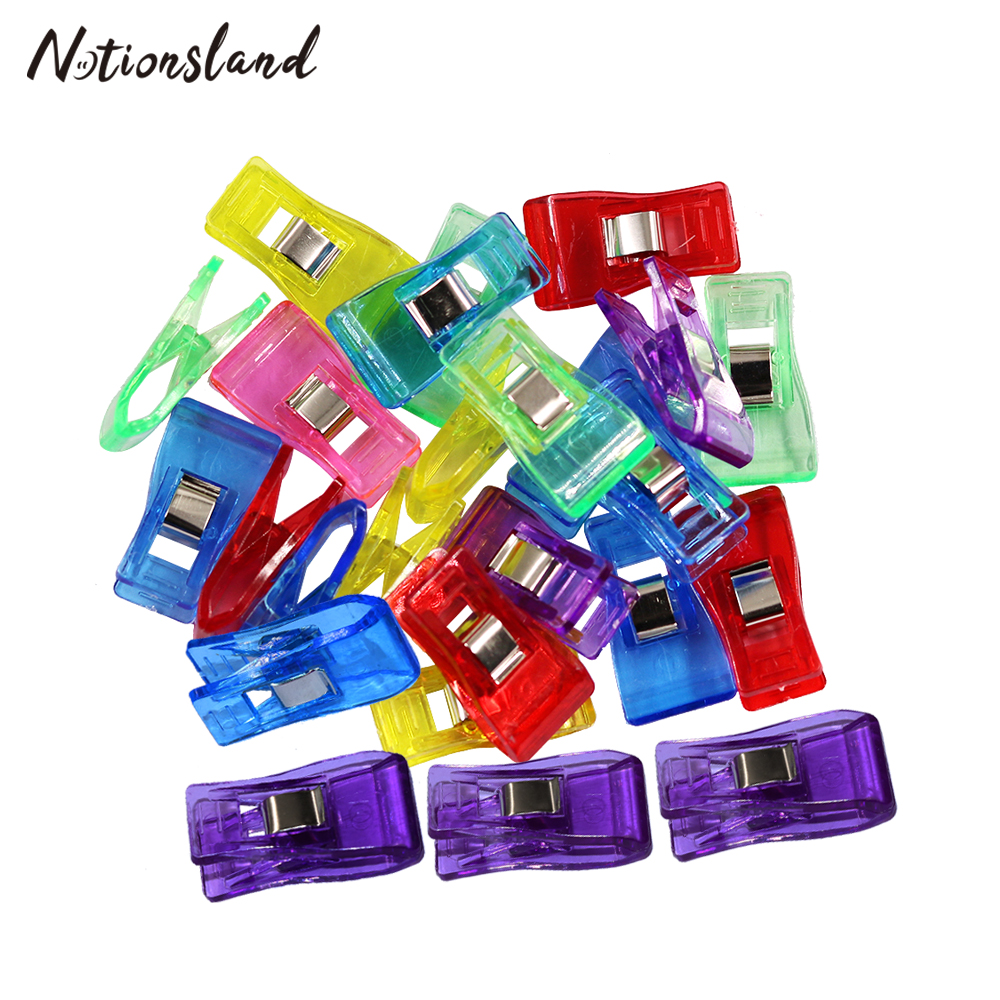 Mixed Plastic Sewing Clips Clothes Clips for Patchwork Fabric Quilting Craft Hemming Clip Holder Garment Sewing Supplies