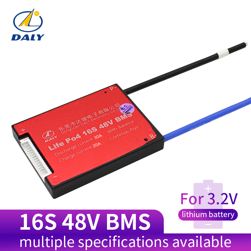 3.2V Life Po4 16S 48V 20A 30A 40A 60A18650 PCM บอร์ดป้องกันแบตเตอรี่ BMS PCM ด้วย Balanced แบตเตอรี่ลิเธียมไอออนแบตเตอรี่ลิเธียมโมดูล-ใน อุปกรณ์เสริมแบตเตอรี จาก อุปกรณ์อิเล็กทรอนิกส์ บน title=