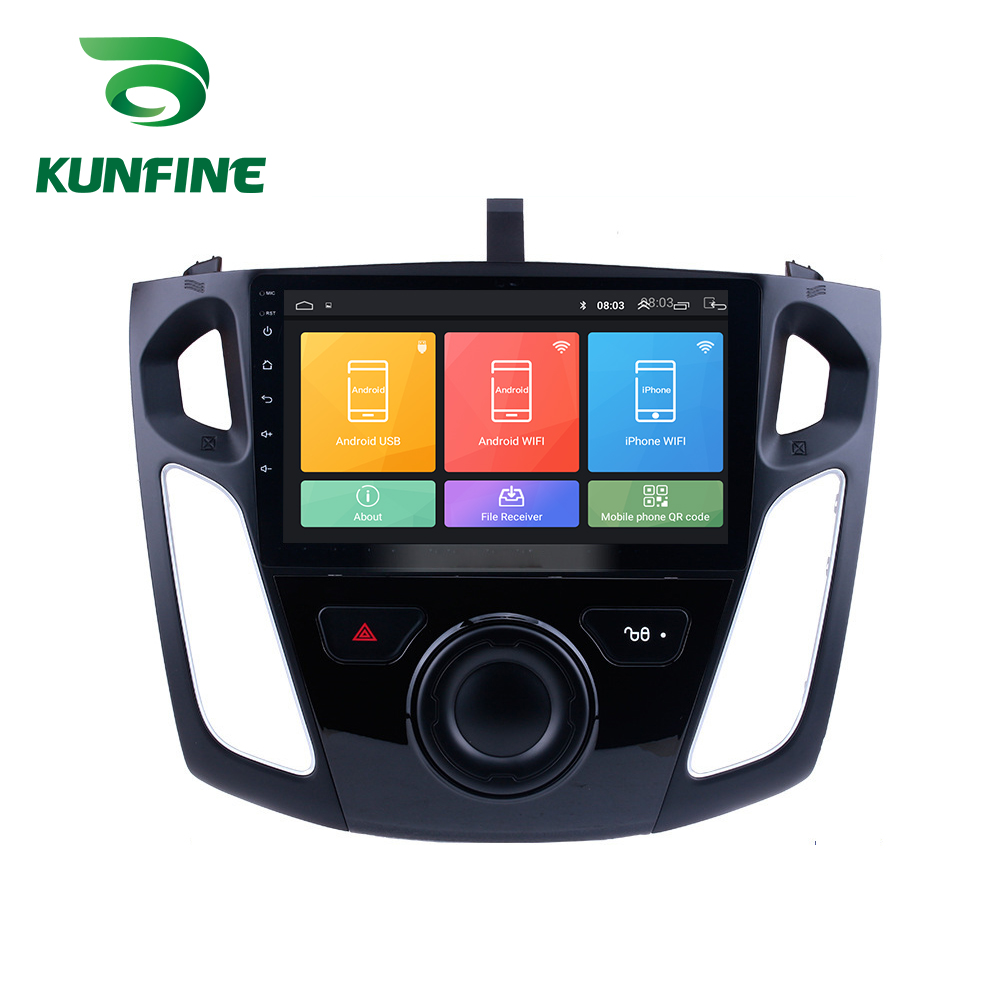 Octa Core 1024*600 Android 8.1 Car DVD <font><b>GPS</b></font> Navigation Player Deckless Car Stereo for <font><b>Ford</b></font> <font><b>Focus</b></font> 2011 2012 2013 2014 2015 Radio image