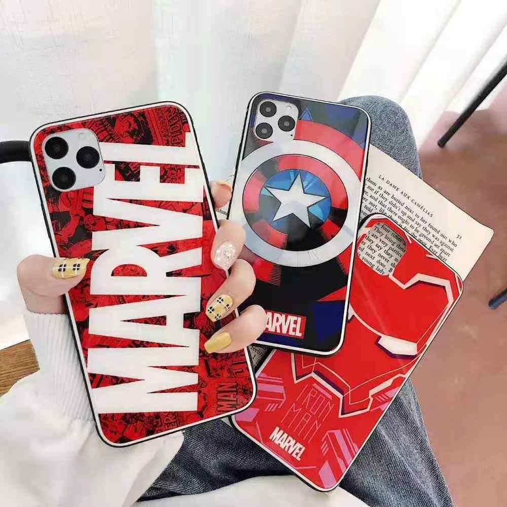 Cool Marvel สำหรับ iPhone 6 6s 7 8 PLUS x XS XR XS MAX สำหรับ iPhone 11 PRO MAX fundas coque