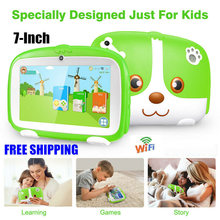"TIPTOP Kids PC Kinderen Educatief Speelgoed 7 ""Kid Tablet PC Quad Core Android 6.0 8GB Dual Camera WiFi tabletten Kinderen Gift(China)"